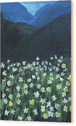 Wood Print featuring the painting Where Lilies Grow by Trilby Cole