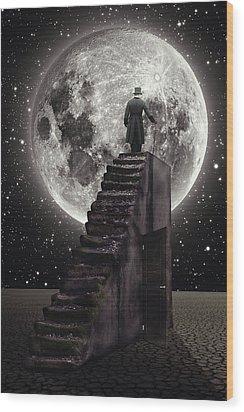 Where The Moon Rise Wood Print