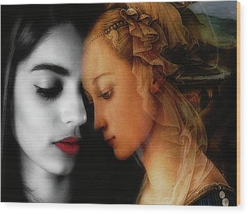 Wood Print featuring the digital art Where The Wild Roses Grow  by Paul Lovering