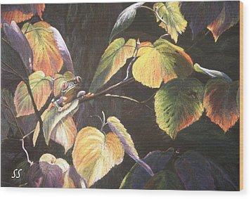 Which Hopper? Wood Print