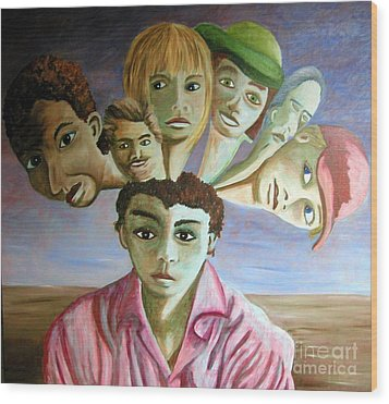 Which Of My Sub Personalities Is The Real Me Wood Print by Tanni Koens
