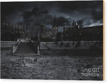 Whilst The City Sleeps Wood Print by John Edwards