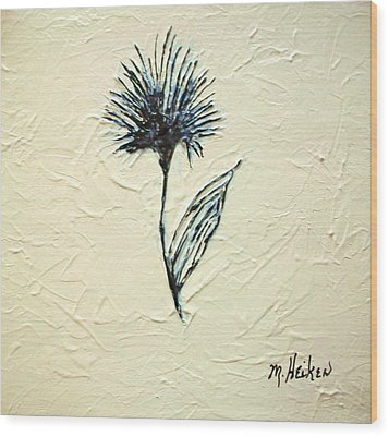 Whimsical Flower Wood Print