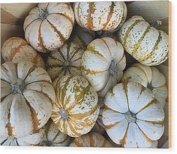Whimsical Pumpkins Wood Print by Russell Keating