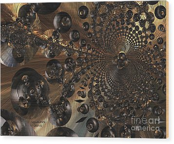 Whirl Wind Of The Universe Wood Print by Melissa Messick