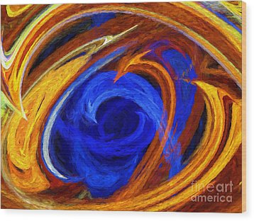 Wood Print featuring the digital art Whirlpool Abstract by Andee Design