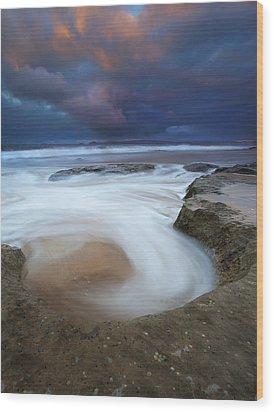 Whirlpool Dawn Wood Print by Mike  Dawson