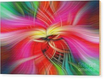 Whirlwind Of Colors Wood Print