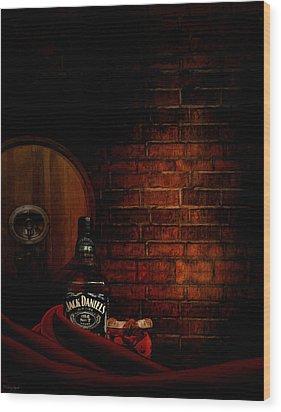 Whiskey Fancy Wood Print by Lourry Legarde