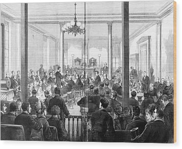 Whiskey Ring Trial, 1876 Wood Print by Granger