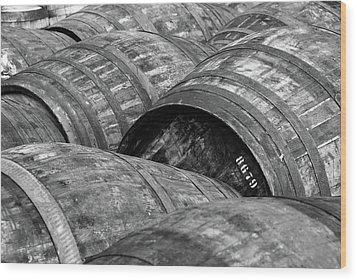 Whisky Barrels Wood Print by (C)Andrew Hounslea
