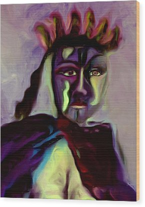 Wood Print featuring the painting Whisper by Shelley Bain