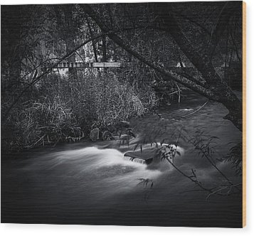 Wood Print featuring the photograph Whispering Brooke by Tim Nichols