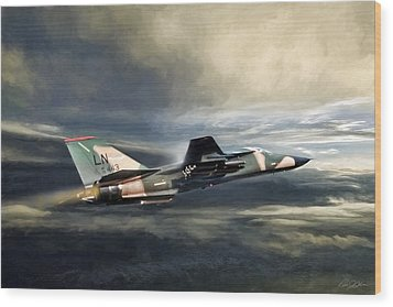 Whispering Death F-111 Wood Print by Peter Chilelli