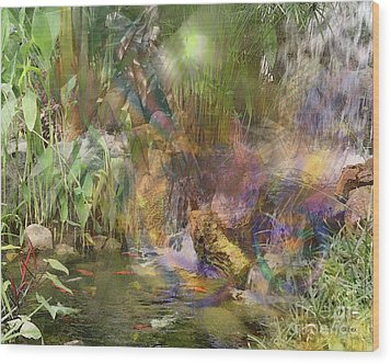Whispering Waters Wood Print by John Beck