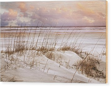 Wood Print featuring the photograph Whispers In The Dunes by Debra and Dave Vanderlaan