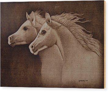 Whispers Wood Print by Jo Schwartz