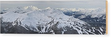 Whistler Mountain Panorama Wood Print by Pierre Leclerc Photography