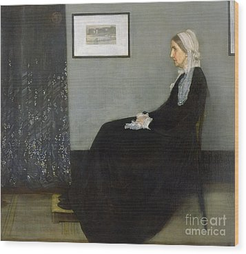 Whistlers Mother Wood Print by James Abbott McNeill Whistler