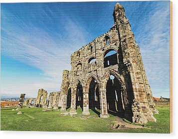 Wood Print featuring the photograph Whitby Abbey by Anthony Baatz