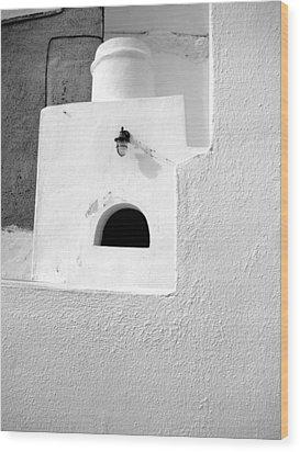 White Abstract Wood Print by Ana Maria Edulescu