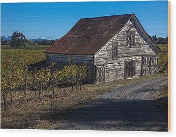 White Barn Wood Print by Garry Gay