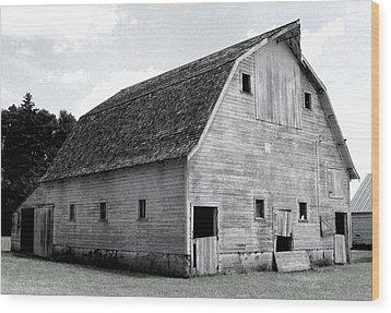 White Barn Wood Print by Julie Hamilton
