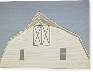 White Barn South Woodstock Vermont Wood Print by Edward Fielding