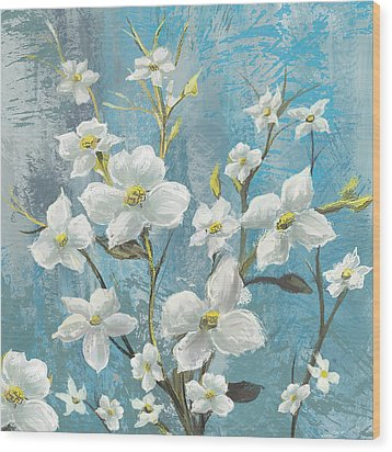 White Bloom Wood Print by Anthony Christou