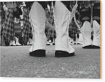 White Boots  Wood Print