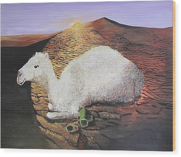 White Camel  Wood Print