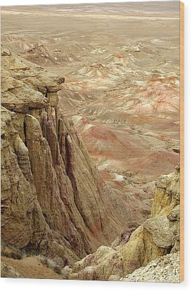 White Cliffs Of Gobi Desert Wood Print