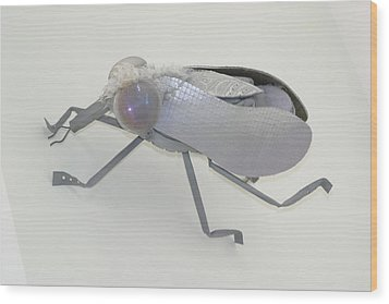 White Fly Wood Print by Michael Jude Russo