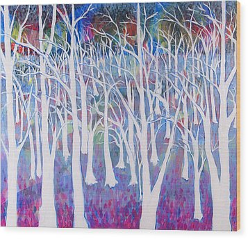 White Forest Wood Print by Rollin Kocsis