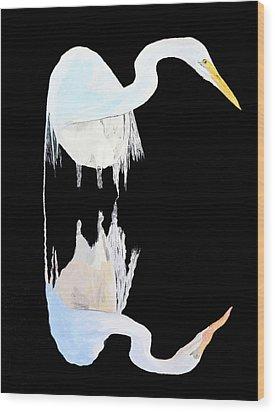 White Heron Wood Print by Eric Kempson