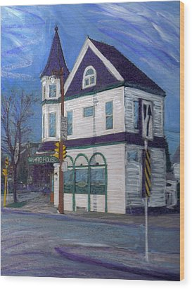 White House Tavern Wood Print by Anita Burgermeister