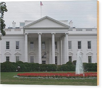 White House Wood Print by Vijay Sharon Govender