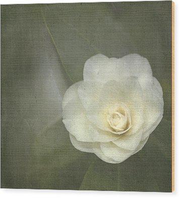 White In The Corner Wood Print by Rebecca Cozart