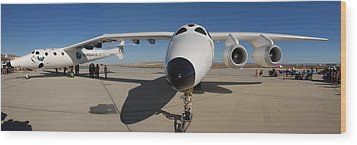 White Knight 2 Edwards Air Force Base Wood Print by Brian Lockett