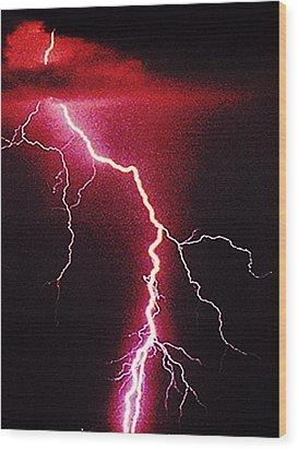 White Lightning Wood Print by Vicky Brago-Mitchell