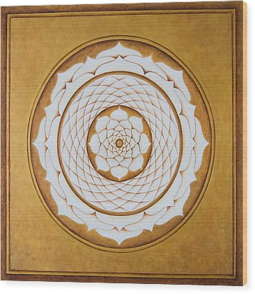 White Lotus Eye Wood Print