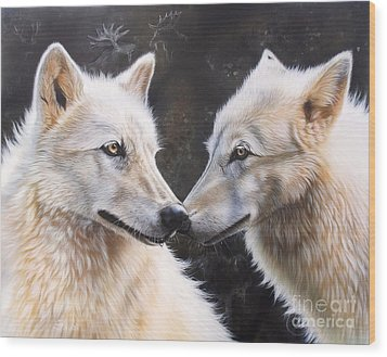 White Magic Wood Print by Sandi Baker