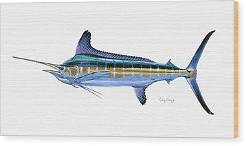 White Marlin Wood Print by Carey Chen
