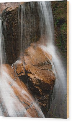 Wood Print featuring the photograph White Mountains Waterfall by Jason Moynihan