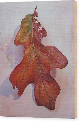 White Oak Leave Wood Print