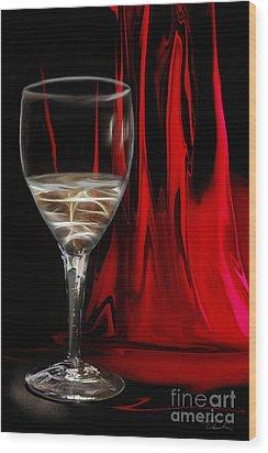 White On Red Wood Print by Danuta Bennett