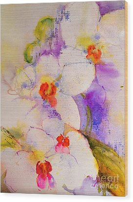 White Orchids Wood Print by Betty M M Wong