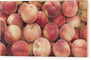 White Peaches Wood Print by John Trax