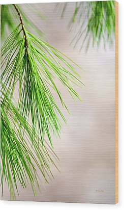 Wood Print featuring the photograph White Pine Branch by Christina Rollo