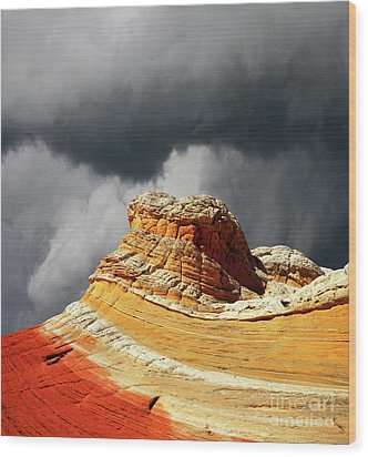 Wood Print featuring the photograph White Pocket 35 by Bob Christopher